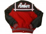 Jacket - Red w/ Black Sleeves - Flap - Back View