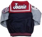 Jacket - Navy with Gray Sleeves (Leather) Back