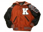 Jacket - Orange w/ Black Sleeves - Front View