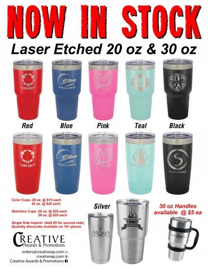 Stainless Steel Tumblers Etched - Click Image to Close