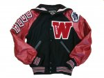 Jacket - Black w/ Red Sleeves - Front View